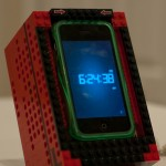 Lego iPhone Docking Station Portrait Mode Alarm Clock