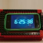 Lego iPhone Docking Station Landscape Mode Alarm Clock