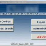 Hearing Aid Contract - Main Menu