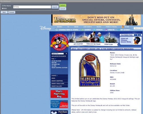 Disney Pin Trading Database - Disney Pin Website Search