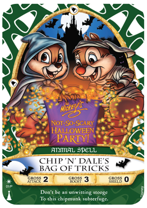 Sorcerers of the Magick Kingdom - 01/P Chip N Dale 2012 Mickey's Not So Scary Halloween Party