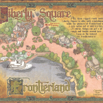 Sorcerers of the Magic Kingdom Map - Liberty Square and Frontierland