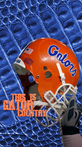 University of Florida Gators - This is Gator Country Football Helmet iPhone 5 Wallpaper