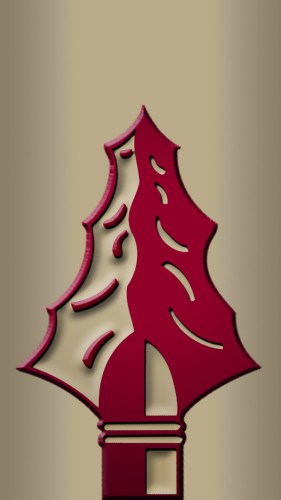 Florida State University Seminoles Spear iPhone 5 Wallpaper